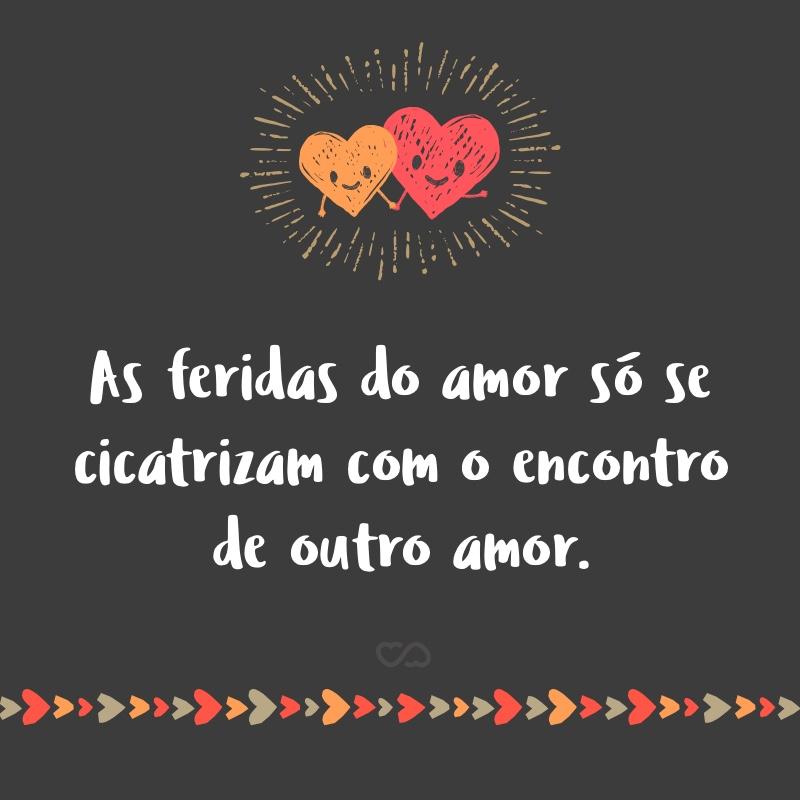 Frase de Amor - As feridas do amor só se cicatrizam com o encontro de outro amor.