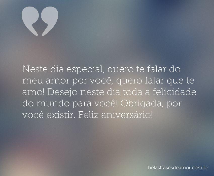 """Para A Pessoa Mais Especial Do Mundo Que é Vc Meu Amor: """"Neste Dia Especial, Quero Te Falar Do Meu Amor Por Você"""
