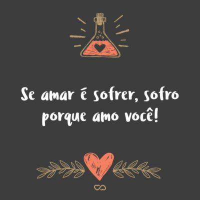 Frase de Amor - Se amar é sofrer, sofro porque amo você!