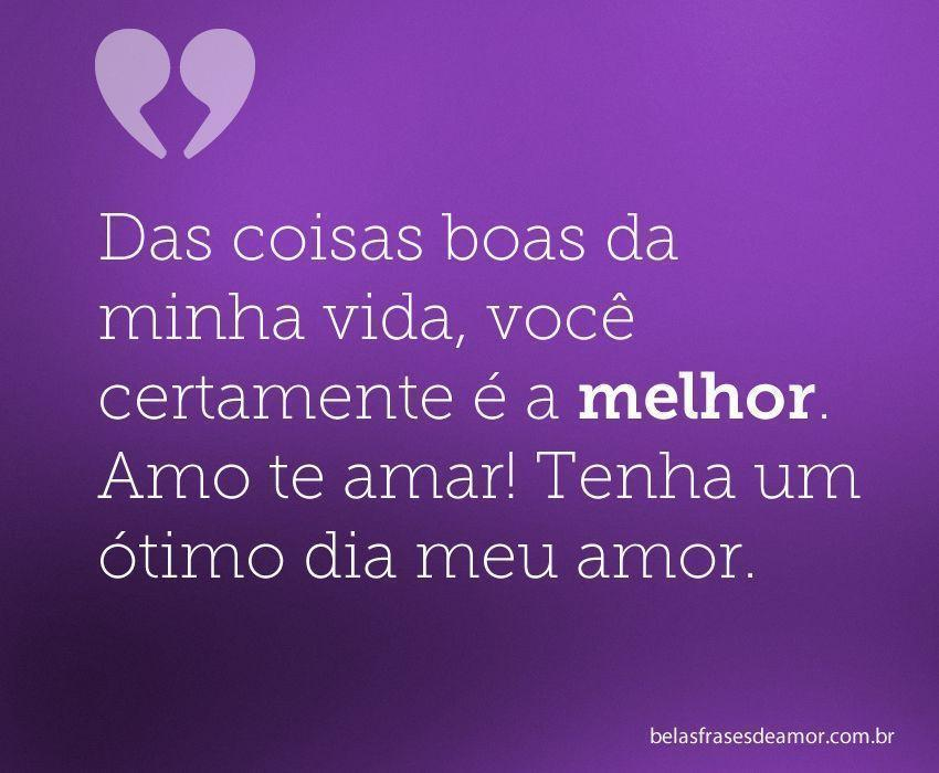 frase de Bom Dia de Amor Coração