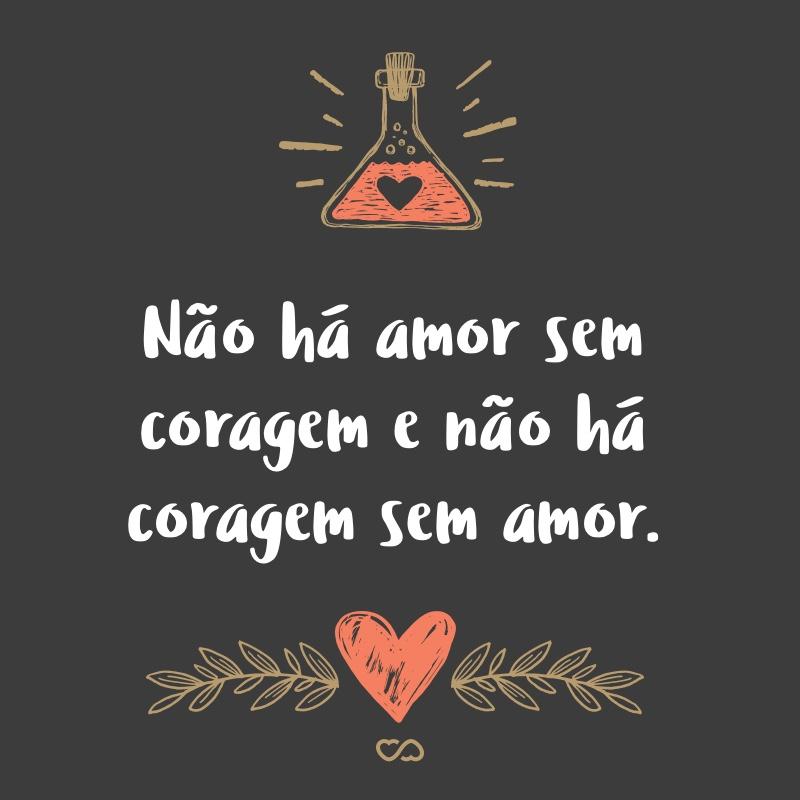 Frase de Amor - Não há amor sem coragem e não há coragem sem amor.