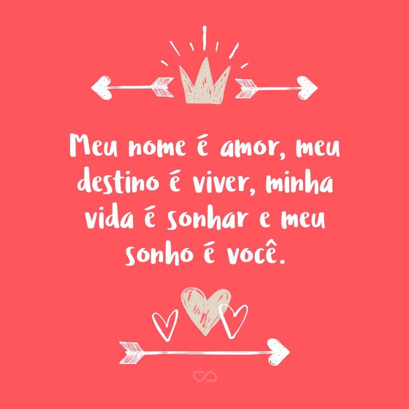 Meu Nome é Amor Meu Destino é Viver Minha Vida é Sonhar E Meu