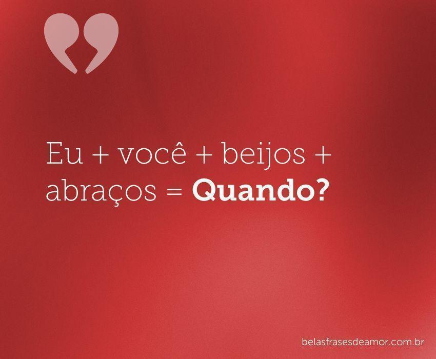 Frases românticas curtas- Eu+você...