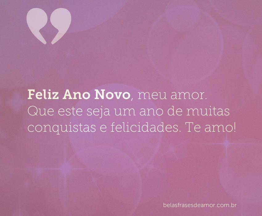 """""""Feliz Ano Novo, Meu Amor. Que Este Seja Um Ano De Muitas"""
