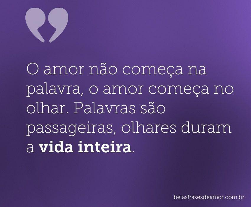 Amor N O E A Na Palavra No Olhar Palavras S