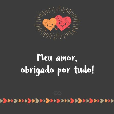 Frase de Amor - Meu amor, obrigado por tudo!