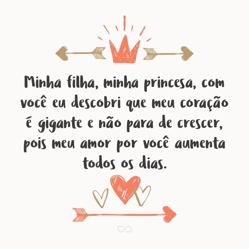 Minha Filha Minha Princesa Com Você Eu Descobri Que Meu