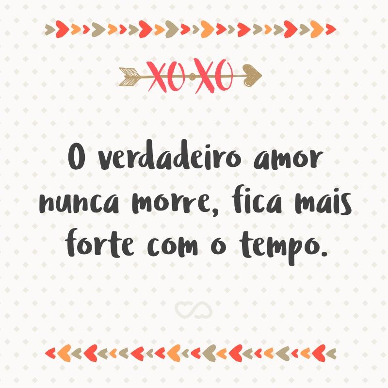 Frase de Amor - O verdadeiro amor nunca morre, fica mais forte com o tempo.