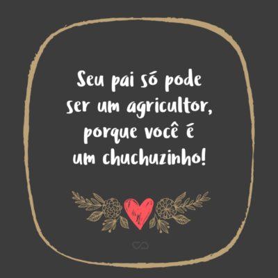 Frase de Amor - Seu pai só pode ser um agricultor, porque você é um chuchuzinho!