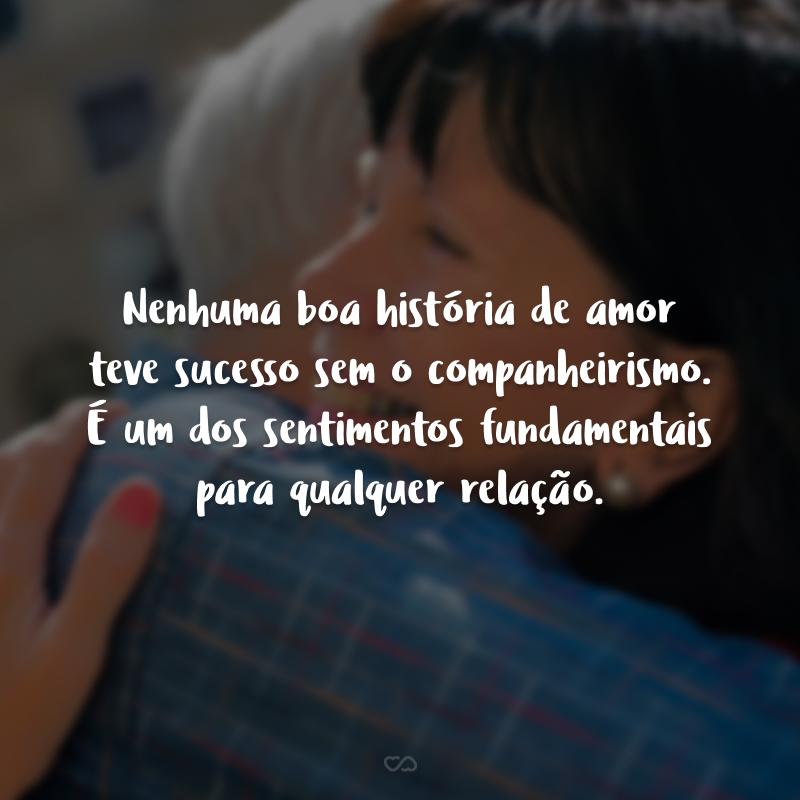 Nenhuma boa história de amor teve sucesso sem o companheirismo. É um dos sentimentos fundamentais para qualquer relação.