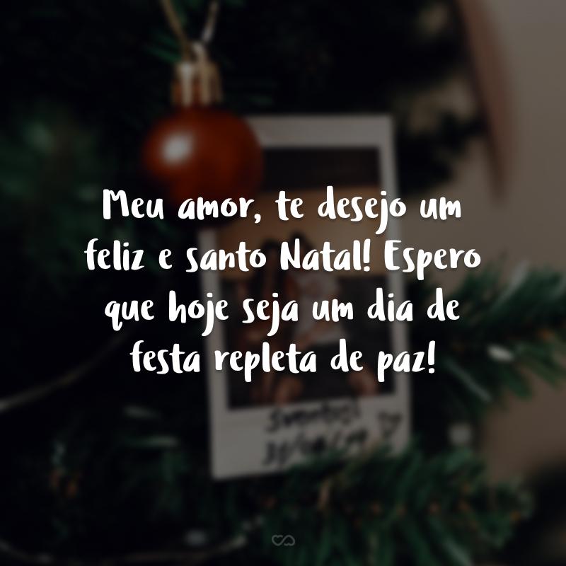 Meu amor, te desejo um feliz e santo Natal! Espero que hoje seja um dia de festa repleta de paz!