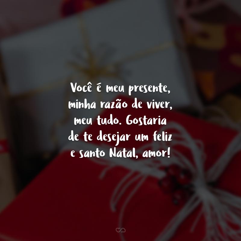 Você é meu presente, minha razão de viver, meu tudo. Gostaria de te desejar um feliz e santo Natal, amor!